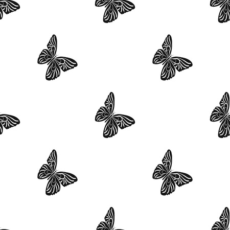 Butterfly with colorful wings. Insect butterfly single icon in black style vector symbol stock isometric illustration .