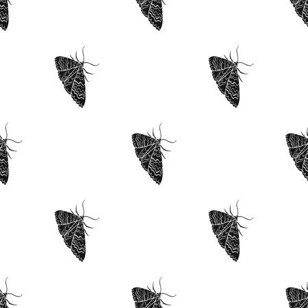 Moth, night butterfly. Insect pest moth single icon in black style vector symbol stock isometric illustration web. Illusztráció