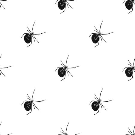 An arthropod bug is an insect.A spider, a predatory insect single icon in black style vector symbol stock isometric illustration web. Illustration