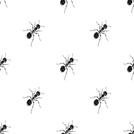 The hymenopteran insect is an ant.Arthropod animal ant single icon in black style vector symbol stock isometric illustration web. Çizim