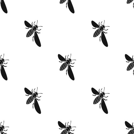 A bee, a hymenopteran insect. Stinging insect bee single icon in black style vector symbol stock isometric illustration web.