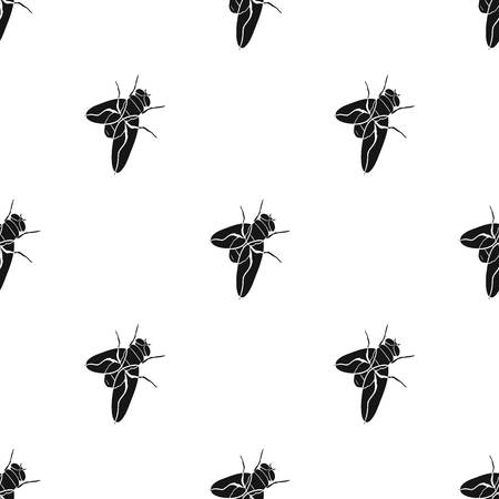 Dipterous insect fly.Dipterous insect fly single icon in black style vector symbol stock isometric illustration web.