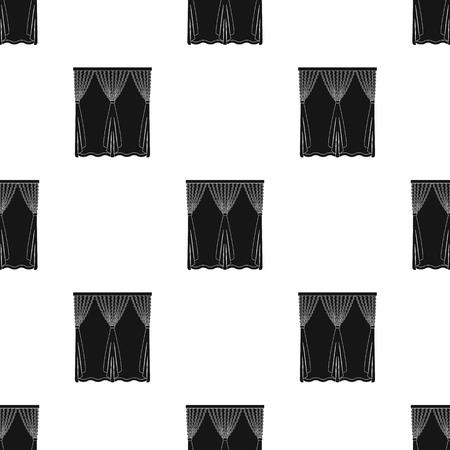Cornice, single icon in black style.Cornice, vector symbol stock illustration web.
