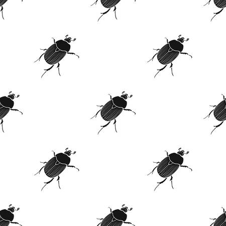 A bug coleopterous insect.Arthropods insect, bug single icon in black style vector symbol stock isometric illustration web.