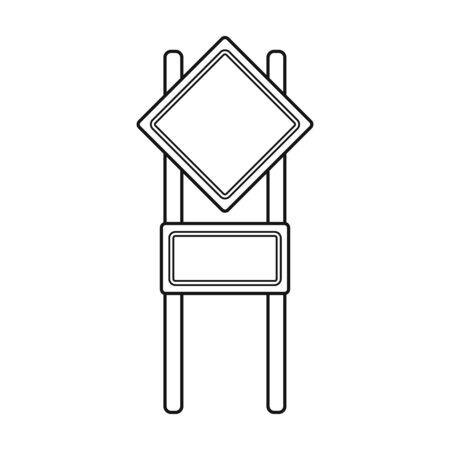 記号アウトライン スタイルで 1 つのアイコン。記号ベクトル シンボル ストック イラスト web。  イラスト・ベクター素材