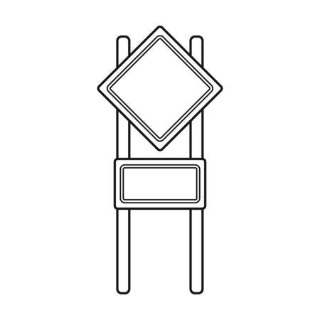 Sign single icon in outline style.Sign vector symbol stock illustration web. Illustration
