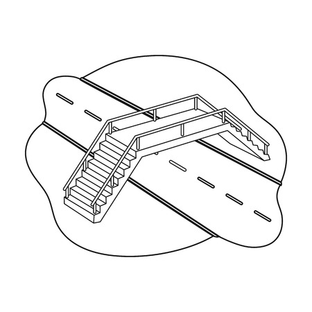 Transition single icon in outline style.Transition vector symbol stock illustration web. Illusztráció