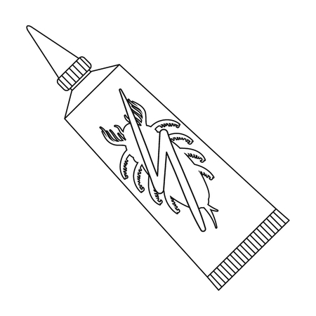 Tube with poison single icon in outline style for design.Pest Control Service vector symbol stock illustration web. Çizim