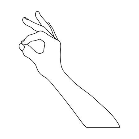 Signe unique icône dans le style de contour. Signer le vecteur symbole stock illustration web.