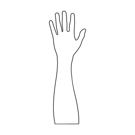 Gesture single icon in outline style.Gesture vector symbol stock illustration web.