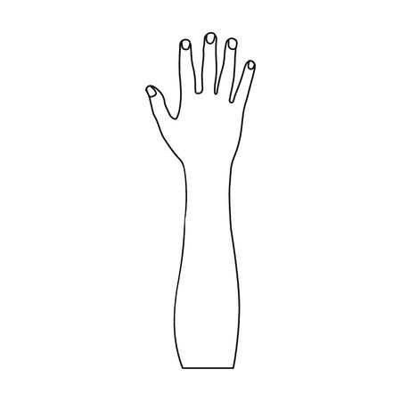 Geste unique icône dans le style de contour. Geste vecteur symbole stock illustration web.