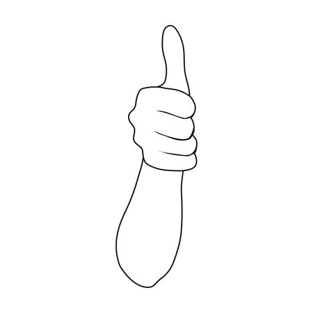 Gebaar één pictogram in kaderstijl. Web vector symbool stock illustratie web.