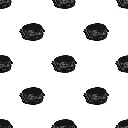 Cheeseburger, single icon in black style.Cheeseburger, vector symbol stock illustration web. Ilustracja