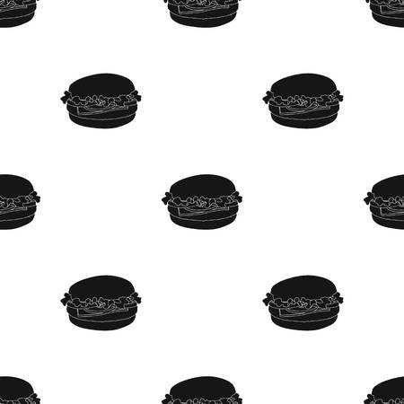 Cheeseburger, single icon in black style.Cheeseburger, vector symbol stock illustration web. Illustration