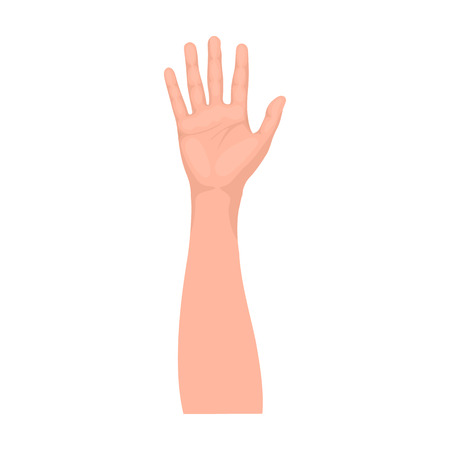 Gesture single icon in monochrome style.Gesture vector symbol stock illustration web.