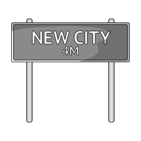 Sign single icon in monochrome style.Sign vector symbol stock illustration web.