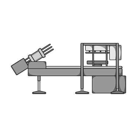 Machine, single icon in monochrome style.Machine, vector symbol stock illustration web.