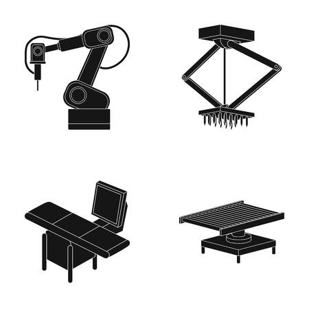Automotive industry and other web icon in black style.New technologies icons in set collection. Illustration