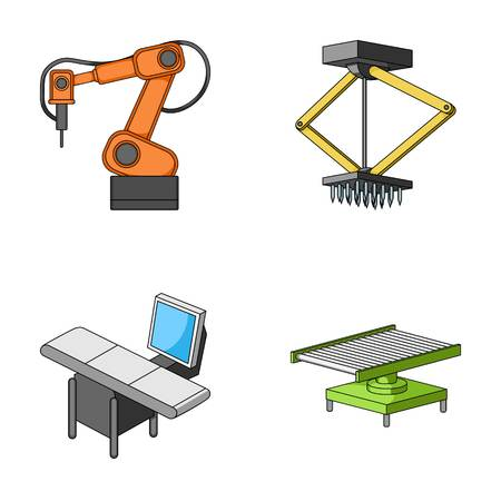 Automotive industry and other web icon in cartoon style.New technologies icons in set collection.