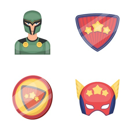 Man, mask, cloak, and other web icon in cartoon style.Costume, superhero, superforce, icons in set collection. Illustration