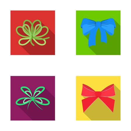 Bow, ribbon, decoration, and other web icon in flat style. Gift, bows, node, icons in set collection.