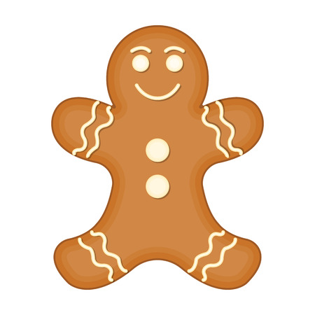 Christmas Gingerbread single icon in cartoon style for design. Christmas vector symbol stock illustration web.