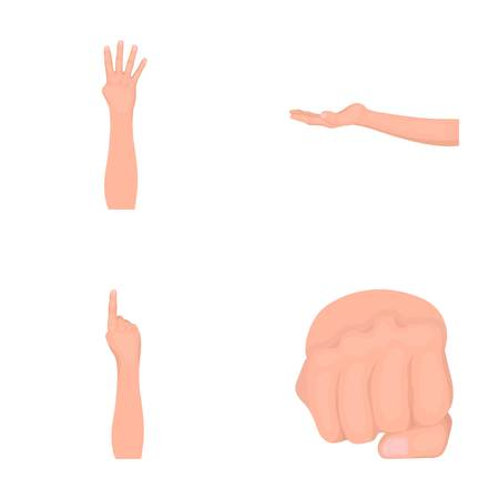 Sign Language cartoon icons in set collection for design.Emotional part of communication vector symbol stock web illustration.
