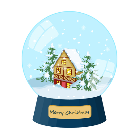 Glass snow ball single icon in cartoon style for design.Christmas vector symbol stock illustration web.