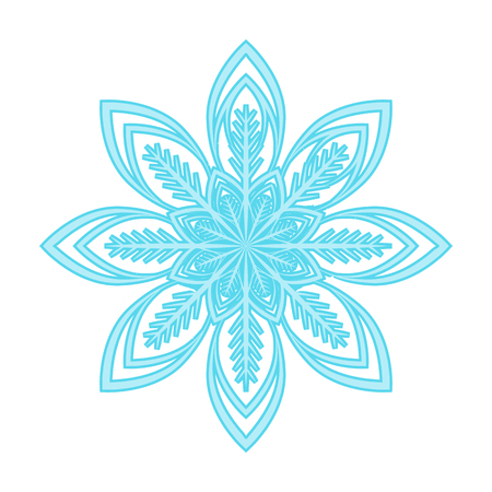 Snowflake single icon in cartoon style for design.Christmas vector symbol stock illustration web.