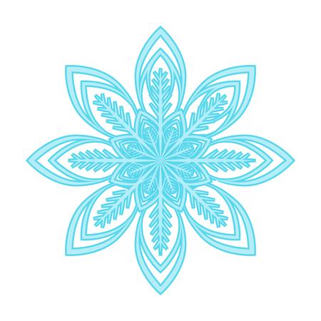 Snowflake single icon in cartoon style for design.Christmas vector symbol stock illustration web.