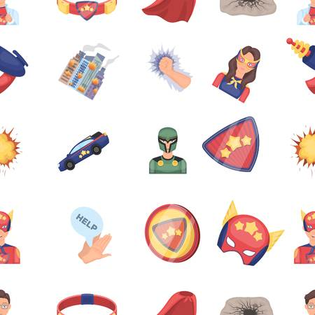 Suit, sign, superhero, and other web icon in cartoon style. Lifeguard, protector, superpower icons in set collection.