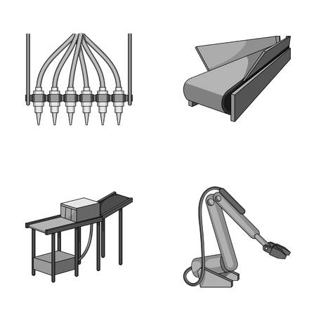 Modern equipment and other web icon in monochrome style.Machine tools and equipment factory icons in set collection.