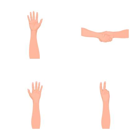 Sign Language monochrome icons in set collection for design.Emotional part of communication vector symbol stock web illustration.