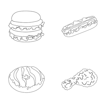 Fast ,food, meal, and other web icon in outline style.Hamburger, bun, flour, icons in set collection.