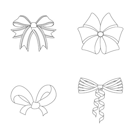 Bow, ribbon, decoration, and other web icon in outline style. Gift, bows, node, icons in set collection.