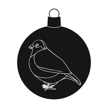 Ball single icon in black style.A toyvector symbol stock illustration web. Ilustracja