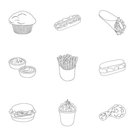 Cafe, fast, picnic and other web icon in outline style.Leg, chicken, meat, icons in set collection.
