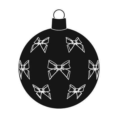 Ball single icon in black style.A toyvector symbol stock illustration web. Illustration