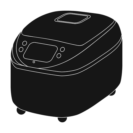 Stove, single icon in black style.Stove, vector symbol stock illustration web. Illustration