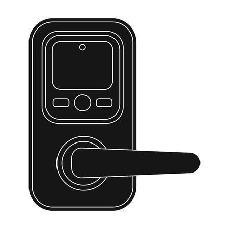 Pen, single icon in black style. Pen, vector symbol stock illustration web.