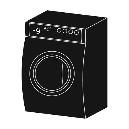 Washing, single icon in black style.Washing, vector symbol stock illustration web.