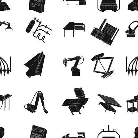 Technical progress and other web icon in black style.Equipment and machinery of the enterprise icons in set collection.