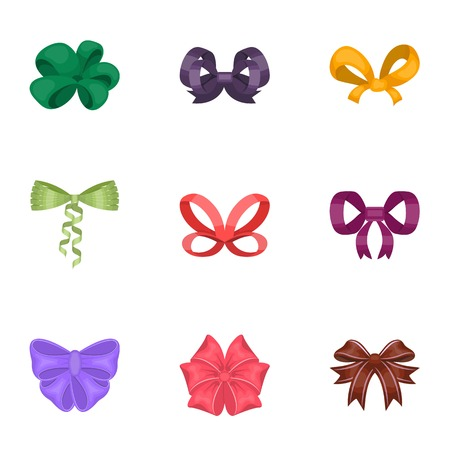 Bow, ribbon, decoration, and other  icon in cartoon style.Giftbows, node, ornamentals, icons in set collection.