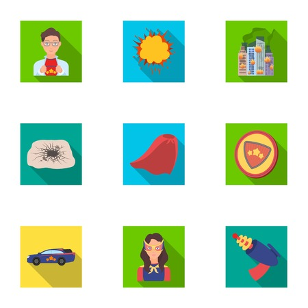 Shield, protection, superhero, and other icon in flat style.Opportunities, assistance, rescue icons in set collection.