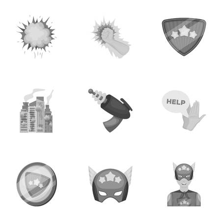 Shield, protection, superhero, and other icon in monochrome style.Opportunities, assistance, rescue icons in set collection.