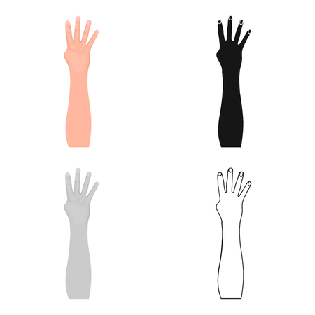 Gesture single icon in cartoon style.Gesture vector symbol stock illustration web.