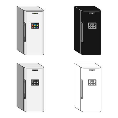Refrigerator, single icon in cartoon style.Refrigerator, vector symbol stock illustration web.