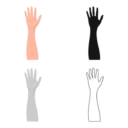 Solo icono del gesto en estilo de la historieta. Web del ejemplo de la acción del símbolo del vector de la idea. Ilustración de vector