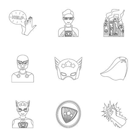 explosion, fire, and other icon in outline style.Pistol, weapons, innovations icons in set collection