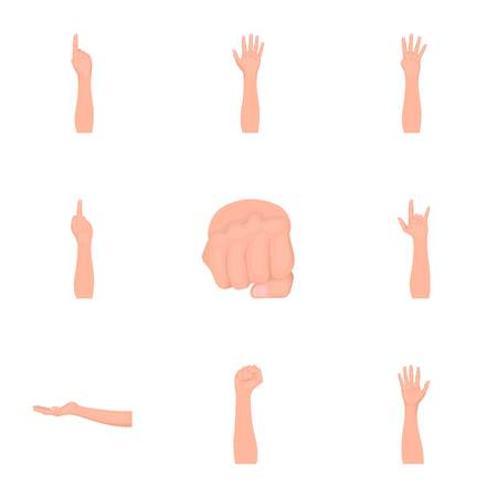 Significance of gestures monochrome icons in set collection for design.The tongue of deaf mutes vector symbol stock  illustration.